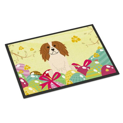 Easter Eggs Cavalier Spaniel Indoor/Outdoor Doormat