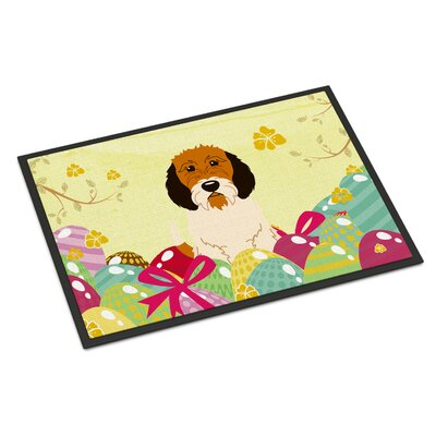 Easter Eggs Petit Basset Griffon Veenden Indoor/Outdoor Doormat