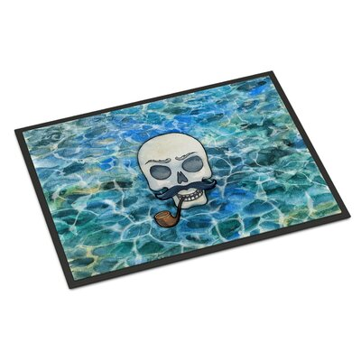 Skeleton Skull Pirate Indoor/Outdoor Doormat
