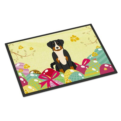 Easter Eggs Appenzeller Sennenhund Indoor/Outdoor Doormat