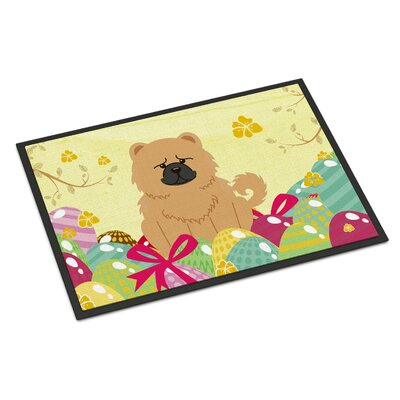 Easter Eggs Chow Chow Indoor / Outdoor Doormat