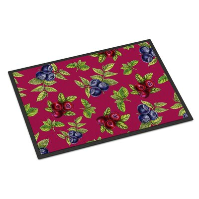 Berries Indoor/Outdoor Doormat Color: Burgundy