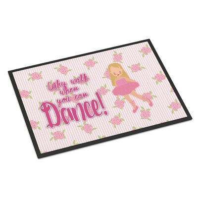 Ballet Long Blonde Hair Indoor/Outdoor Doormat