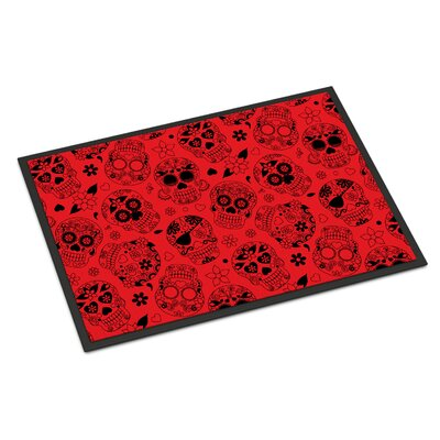 Indoor/Outdoor Doormat Color: Red