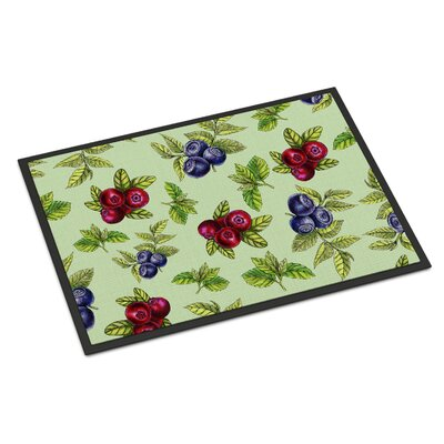 Berries Indoor/Outdoor Doormat Color: Green