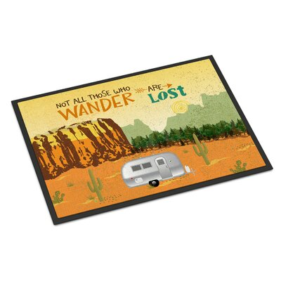 Airstream Camper Camping Wander Indoor/Outdoor Doormat