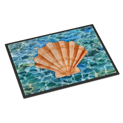 Scallop Shell and Water Indoor/Outdoor Doormat