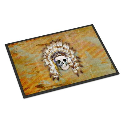Indian Skull Rectangle Indoor/Outdoor Doormat