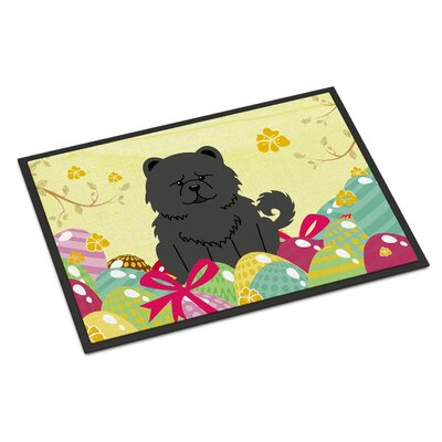 Easter Eggs Chow Chow Indoor/Outdoor Doormat Color: Black