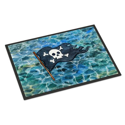 Pirate Flag Indoor/Outdoor Doormat