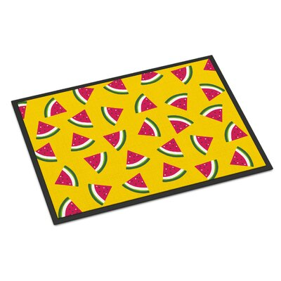Watermelon Indoor/Outdoor Doormat Color: Yellow