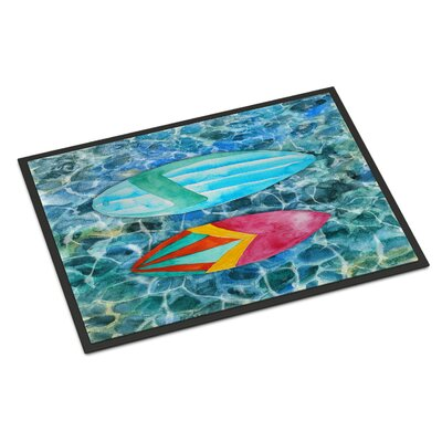 Surf Boards on the Water Indoor/Outdoor Doormat