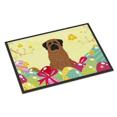 Easter Eggs Mastiff Indoor/Outdoor Doormat Color: Brown