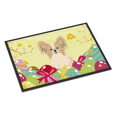 Easter Eggs Papillon Indoor/Outdoor Doormat Color: Sable