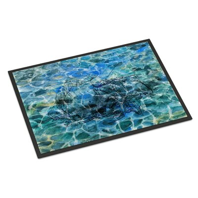 Hermit Crab Under Water Indoor/Outdoor Doormat