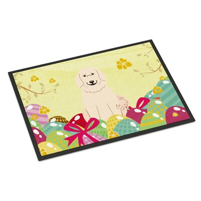 Easter Eggs Great Pyrenese Indoor/Outdoor Doormat