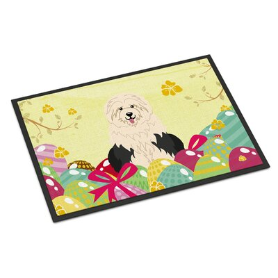 Easter Eggs Old English Sheepdog Indoor/Outdoor Doormat