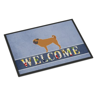 Pug Indoor/Outdoor Doormat