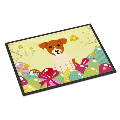 Easter Eggs Jack Russell Terrier Indoor/Outdoor Doormat