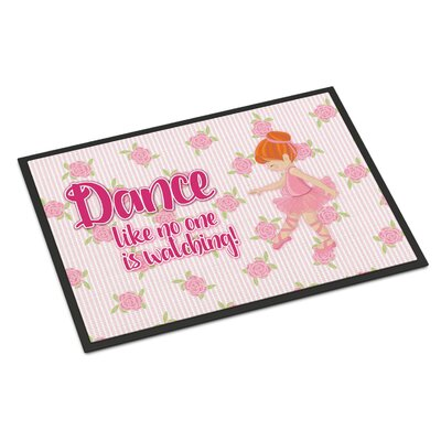 Ballet Dance Indoor/Outdoor Doormat Color: Red