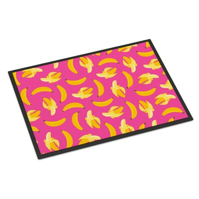Bananas Indoor/Outdoor Doormat Color: Pink