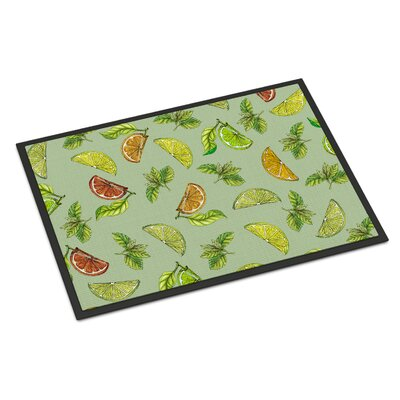 Lemons, Limes and Oranges Indoor/Outdoor Doormat Color: Light Green