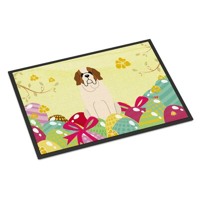Easter Eggs Saint Bernard Indoor/Outdoor Doormat