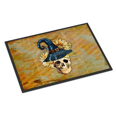 Witch Skull Indoor/Outdoor Doormat