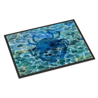 Blue Crab Under Water Indoor/Outdoor Doormat