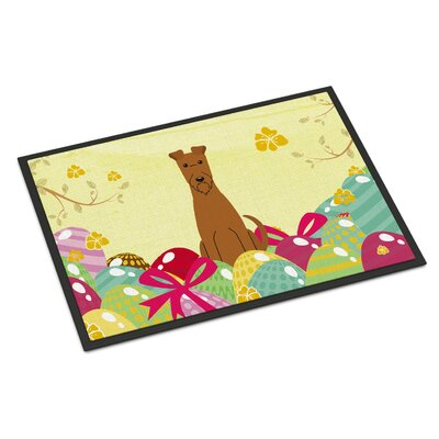 Easter Eggs Irish Terrier Indoor/Outdoor Doormat