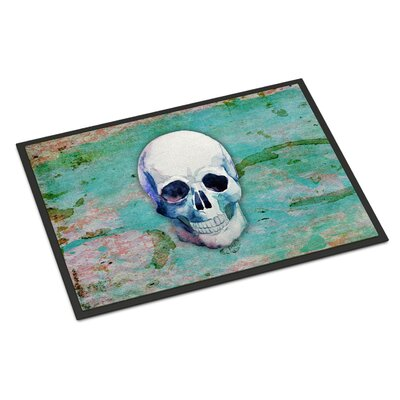 Skull Indoor/Outdoor Doormat