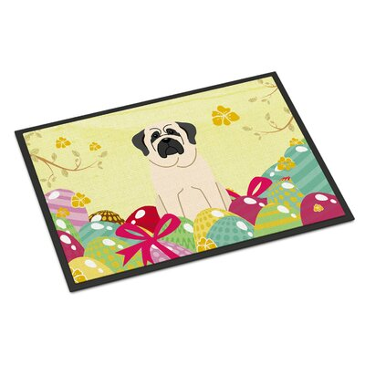 Easter Eggs Mastiff Indoor/Outdoor Doormat