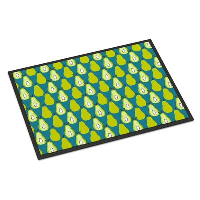 Pears Indoor/Outdoor Doormat Color: Green