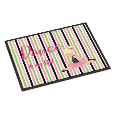 Ballet Dance is My Life Indoor/Outdoor Doormat Color: Blonde