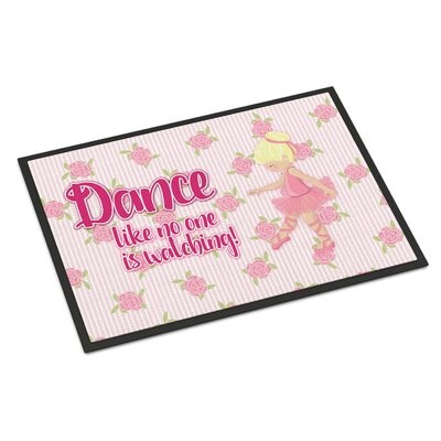 Ballet Dance Indoor/Outdoor Doormat Color: Blonde