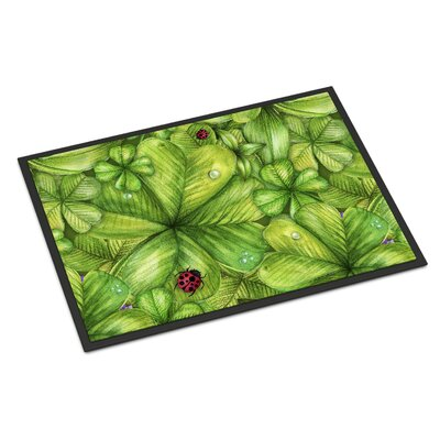 Shamrocks and Lady bugs Indoor/Outdoor Doormat