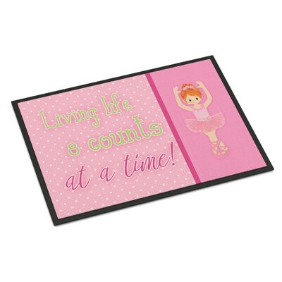 Ballet in 8 Counts Red Hair Indoor/Outdoor Doormat