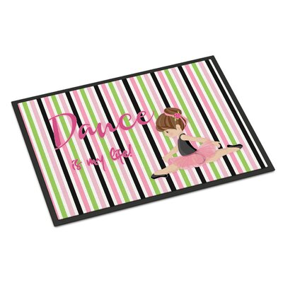 Ballet Dance is My Life Indoor/Outdoor Doormat Color: Brunette