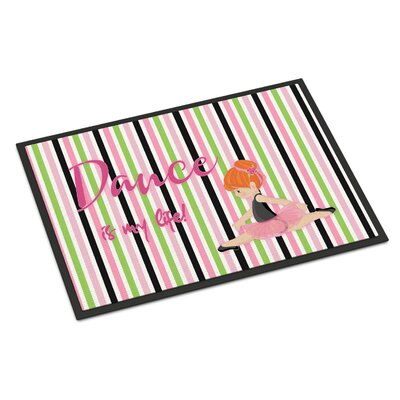 Ballet Dance is My Life Indoor/Outdoor Doormat Color: Red