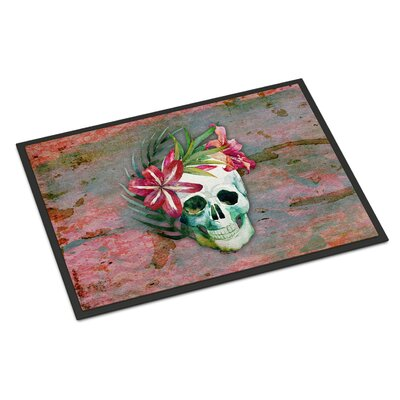 Skull Flowers Indoor/Outdoor Doormat
