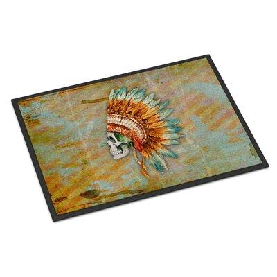 Day of the Dead Indian Skull Indoor/Outdoor Doormat