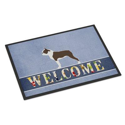 Boston Terrier Indoor/Outdoor Doormat