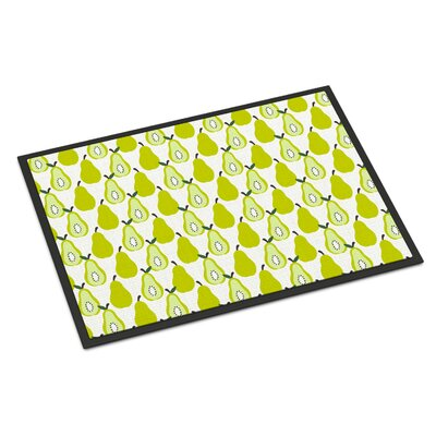 Pears Indoor/Outdoor Doormat Color: White