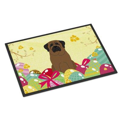 Easter Eggs Bullmastiff Indoor/Outdoor Doormat