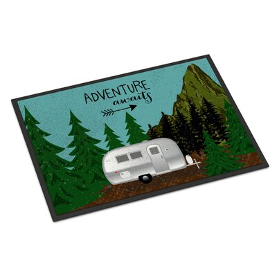 Airstream Camper Adventure Awaits Indoor/Outdoor Doormat