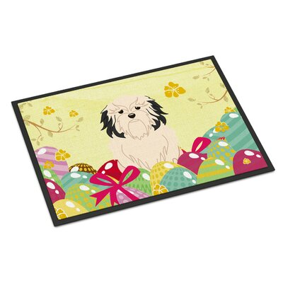 Easter Eggs Lowchen Indoor/Outdoor Doormat