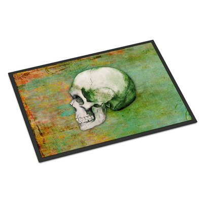 Skull Rectangle Indoor/Outdoor Doormat