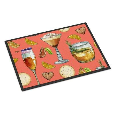 Drinks and Cocktails Indoor/Outdoor Doormat Color: Salman