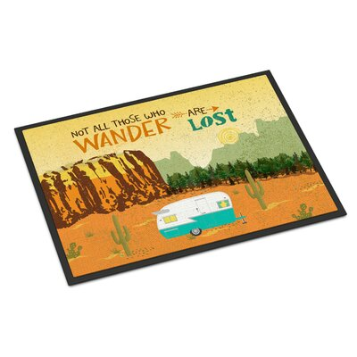 Retro Camper Camping Wander Indoor/Outdoor Doormat