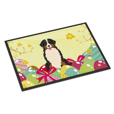 Easter Eggs Bernese Mountain Dog Indoor/Outdoor Doormat